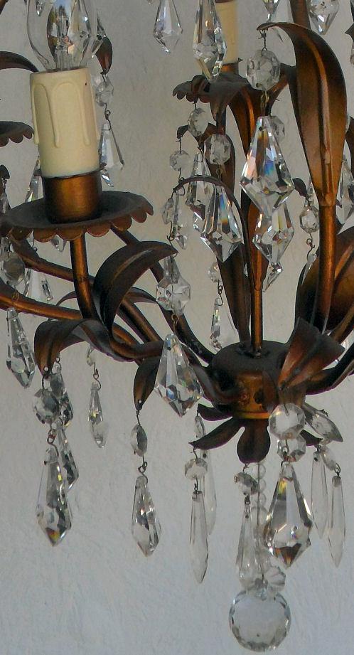 6 arm vintage Italian chandelier - 6 Arm Vintage Italian Chandelier Vintage & Antique Chandeliers