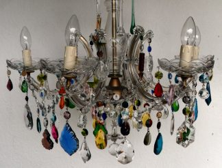 1950s 6 arm Marie Therese vintage chandelier